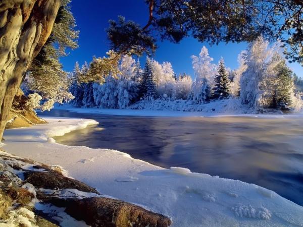 Ένα φανταστικό χειμωνιάτικο τοπίο, με